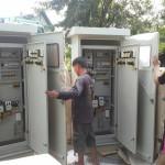 รับทำตู้คอนโทรลมอเตอร์แบบกั้นน้ำ5kw-1000kw